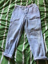 Marks And Spencer St Michael Vintage 90s Light Blue Mom Jeans Size 12