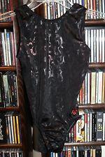 GK Elite Black foil pattern Leotard gymnastics Dance  Adult M (bin62)