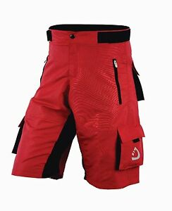 Deckra Mens Cycling MTB Short High Quality Padded Off Road Shorts Padded Liner