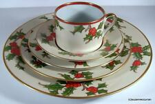 Retired Fitz & Floyd CHRISTMAS HOLLY 5 Pc Place Setting with 16 Settings Avail