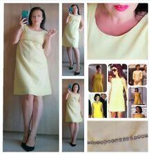 1960s vintage yellow dress Jackie Mad Men rockabilly style sz M 12 14