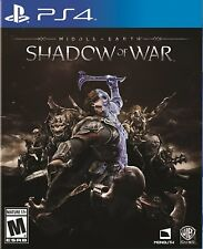 NEW Middle-earth: Shadow of War (Sony PlayStation 4, 2017) PS4
