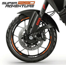 1290 Super Adventure motorcycle wheel decals rim stickers set stripes orange