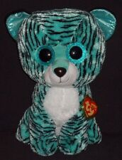 """TY BEANIE BOOS - TESS the 16"""" TIGER with MINT TAG (LARGE) - JUSTICE EXCLUSIVE"""