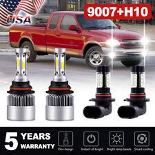 For Ford F-150 1999-2003 LED Headlights+ Fog Lights Combo 9007 HB5 9145 9140 4PC