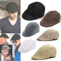 Fashion Newsboy Cap Mens Boys Ivy Hat Golf Driving Flat Cabbie Beret Driver Hat
