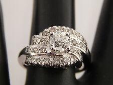 Handmade 1.19 tcw Old European Cut Diamond Engagement Ring 14k White Gold J/VVS