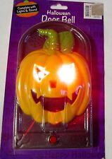 New Light & Sound Halloween Door Bell Outdoor Decor Scary Jack-O-Lantern