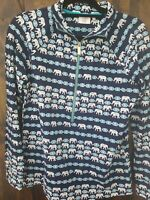"""CROWN & IVY """"BEACH"""" WOMENS PULLOVER SIZE S NWOT NAVY BLUE"""