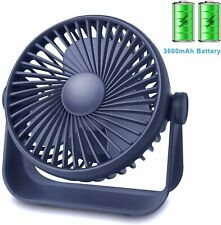 Desk Fan Small Table Fan Rechargeable Battery