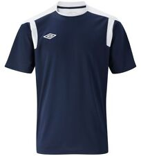 New Mens Umbro Training Top, T-Shirt - Navy Blue - Sports Football Fitness Gym