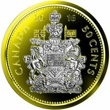 2016 Canadian Classic 50 Cents Plated Gold 24k Selective with Rhodium