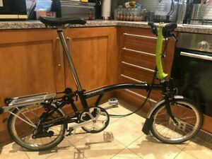 Brompton S6R Black/Lime Green Excellent Condition Shipping Worldwide.