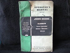 Vintage Used John Deere Operators Manual - Lever Cultivator Harrow  OM-F4-652