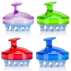 Soft Silicone Scalp Massager Shower Dandruff Bath Removal Shampoo Hair Brush UK