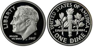 2017 S Clad Proof Roosevelt Dime Ten-Cent Coin 10c
