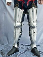Vintage Etched Full Leg Armor Set Medieval Knight Steel Armor Collectible Item