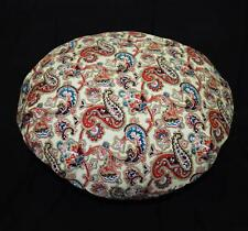 lf336n Red Blue Brown Khaki Cream Round High Quality Cotton Canvas Cushion Cover