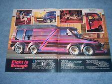 "1975 Dodge Tradesman Vintage Custom Van Article ""Eight is Enough"" 8-Wheeled"