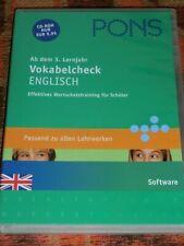 CD-ROM PC - Pons Vokabelcheck Englisch (Ab dem 3. Lernjahr)