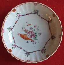 18th c. Chinese Export Porcelain Plate Saucer Bowl Famille Rose Dish Cornucopia