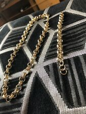 18ct Gold Plated Belcher Chain and Bracelet Set 13mm