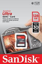 SanDisk Ultra 128GB SDXC SDHC SD Class 10 30MB/s 200x Memory Card SDSDU-128G-U46
