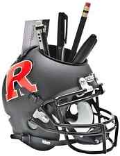 RUTGERS SCARLET KNIGHTS NCAA Schutt Mini Football Helmet DESK CADDY
