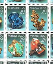 1992 - MINERALS - #2700-2703 Full Mint -MNH- Sheet of 40 Postage Stamps