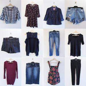 Bulk Womens Clothing Sz 8/XS Jag Just Jeans Dotti Seduce Kenji Sussan Supre H&M