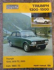 Original Intereuope Triumph 1300-1500 Workshop Repair Manual (1971)