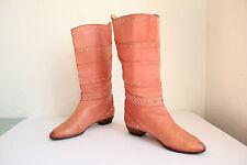 Vintage mad by de robert High Boots Bottes pleinement véritable cuir eu:38