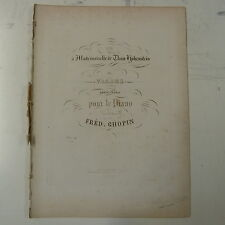 antique CHOPIN valse op.34/1 , 1st edition schlessinger 1838 , 11 pages