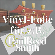1x Vinyl-Folien Repair-Kit Kopfplatte / Headstock Decal z.B. PaulReedSmith PRS