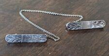 Vintage 925 Sterling Silver Men's Tie Jewelry Accessory
