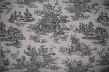 Waverly Garden Room COUNTRY LIFE Black Toile Fabric Drapery Panel 60x20