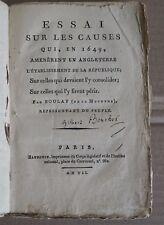 Essai Sur Les Causes Qui, En 1649, Amenerent En Angleterre L'Etablissement De La