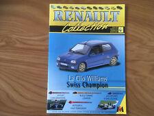 MAGAZINE RENAULT COLLECTION N°64 CLIO WILLIAMS SWISS CHAMPION   G85