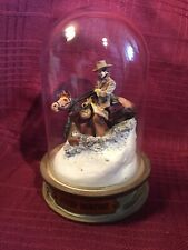 Franklin Mint, Glass Domed John Wayne Movie Collectible- A5032 Horse in Snow