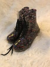 Dirty Laundry Rain Boots Floral Rubber Multicolored Boots Women's Size 9