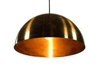 Pendel Leuchte Messing Halbkugel Hänge Lampe Vintage Dansk Pendant 60-70er #2/4
