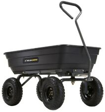 Gorilla Cart Heavy Duty 600 lb Load Garden Dumping Handle Sturdy Utility Wheel