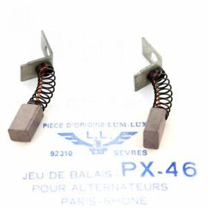 Set of Brushes (Coal) PX46 For Peugeot 404 Inj Renault R16TS Berliet Saviem