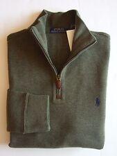 Men Polo Ralph Lauren Half Zip Sweater All Sizes Assorted Colors NEW