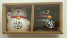New In Box  Japanese Good Luck  LUCKY CATS  Salt & Pepper Shakers