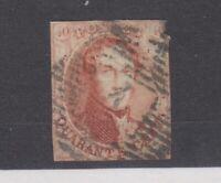 Belgium 1858 40c Red Imperf SG11 Fine Used JK1222