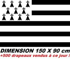 GRAND DRAPEAU 150 X 90 cm BRETAGNE BRETON BREIZH GWENN HA DU FRANCE @@@ NEUF @@@