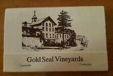 Matchbook Cover Gold Seal Winery Vineyards unstruck Hammondsport NY Urbana Wine
