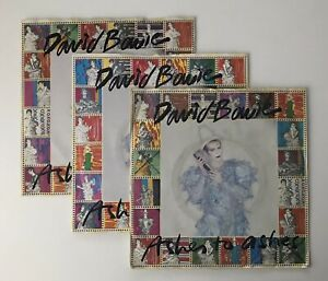 """DAVID BOWIE - 1980 - """"ASHES TO ASHES"""" - FULL SET OF 3 PICTURE SLEEVES  *EX/VG*"""