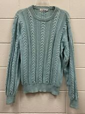 PRINGLE Of Scotland  Womens Long Sleeve Cable Knit Sweater Jumper Size M Green